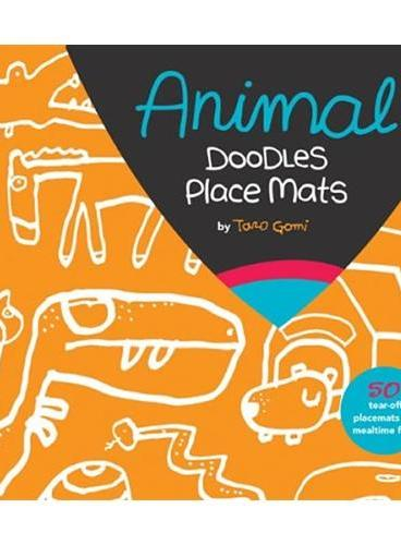 Animal Party Doodles Place Mats五味太郎的餐盘:动物聚会 ISBN9781452107158