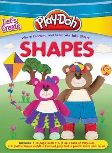 Play-Doh: Let's Creat Shapes(含6盒陪乐多彩泥、10个形状模具,2个挤压模具)ISBN9781607107675