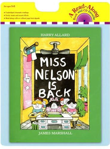 Miss Nelson Is Back (Book+CD)尼尔森小姐回来了(书+CD)ISBN9780547577180