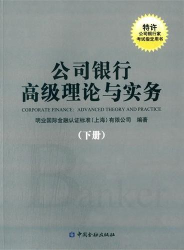 公司银行高级理论与实务(下册)