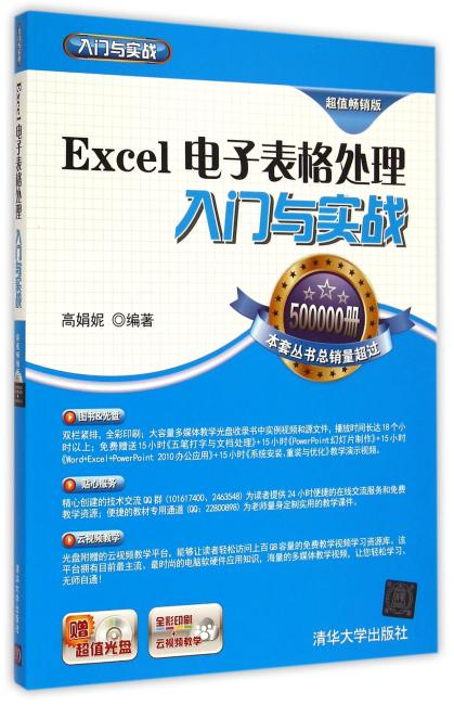 Excel电子表格处理入门与实战 配光盘  入门与实战
