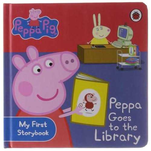 Peppa Pig(My First Storybook):Goes to Library[Boardbook]小猪佩奇卡板故事书:去图书馆ISBN9781409304852