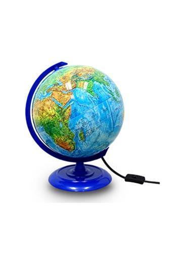 20CM PVC中英文地形/政区地球仪(灯光型)