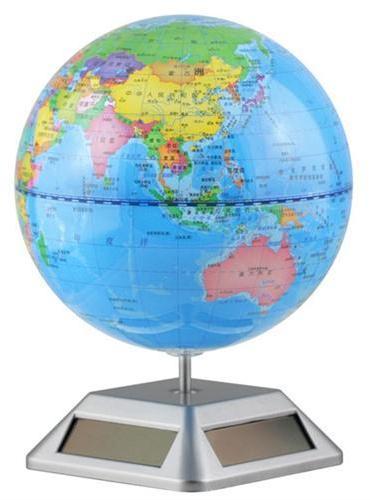 地球仪(太阳能自转 14cm政区蓝)