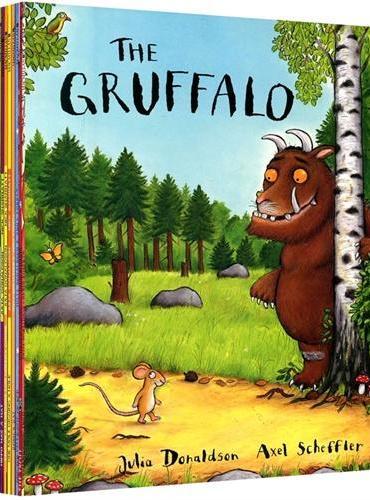 Julia Donaldson茱莉亚·唐纳森聪明豆绘本集(含Gruffalo《咕噜牛》等10本绘本)ISBN9780230748620