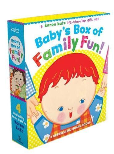 Baby's Box of Family Fun!《妈妈在哪儿》、《爸爸在哪儿》《奶奶在哪儿》《爷爷在哪儿》(含Karen Katz四本卡板书礼品装)ISBN9781416927952