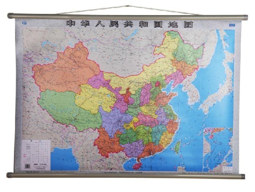 中国地图挂图(全开1.05米×0.75米 专业挂图)
