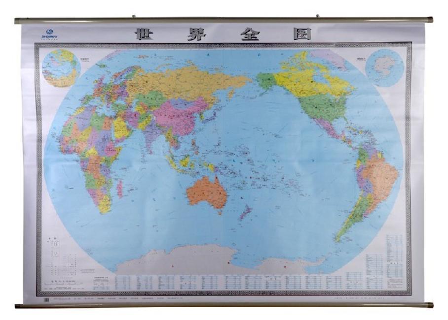 世界全图(四全2米×1.5米 专业挂图)