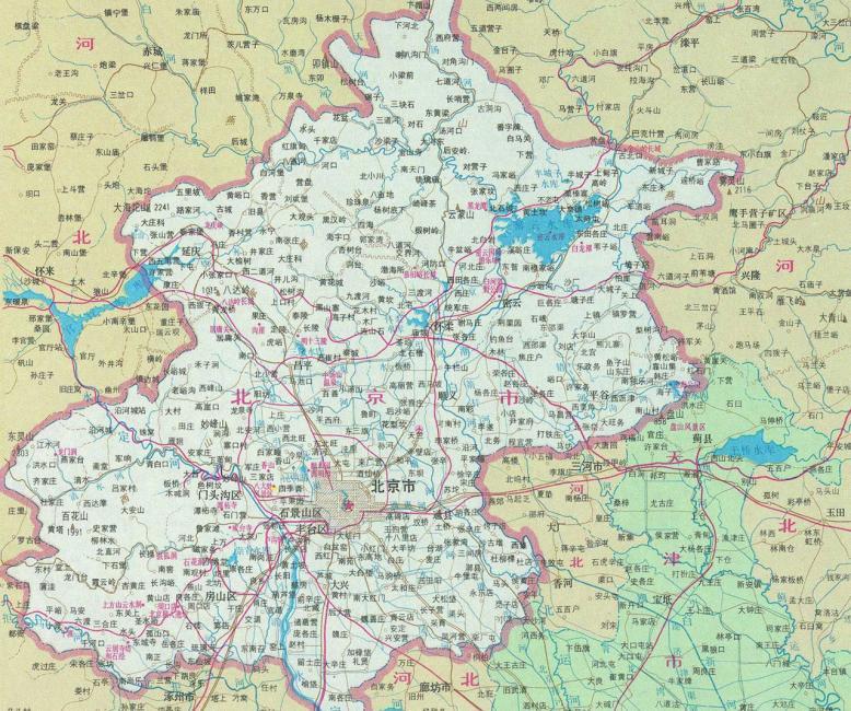北京城市地图(全开1.05米×0.75米 专业挂图)