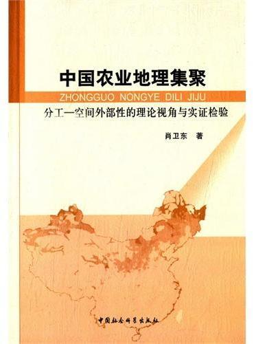中国农业地理集聚:分工-空间外部性的理论视角与实证检验