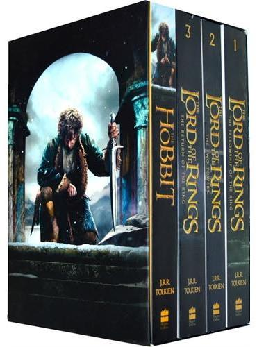 The Hobbit and The Lord of the Rings Boxed Set《霍比特人》+《指环王》大开本四本套装ISBN9780008112837