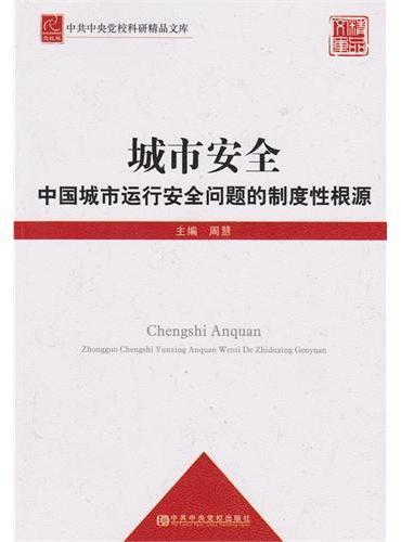 城市安全——中国城市运行安全问题的制度性根源