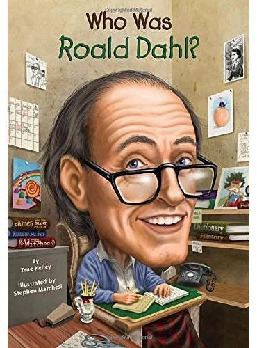 Who Was Roald Dahl? 漫画名人传记:罗尔德﹒达尔 ISBN9780448461465