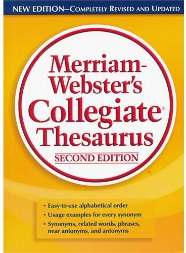 M-W Collegiate Thesaurus, Second Edition Merriam Webster's 韦氏词典之同义词词典