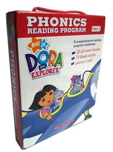 Dora The Explorer Phonics Reading Programe Pack#3 with CD 朵拉自然拼读(12本书+CD)ISBN9780545722223