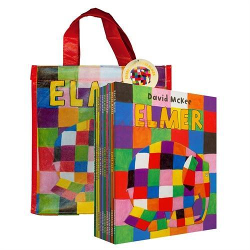 Everybody Loves Elmer 花格子大象艾玛(10本绘本)手提袋装ISBN9781849393256