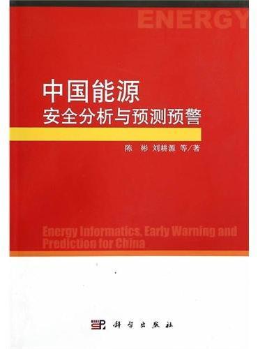 中国能源安全分析与预测预警