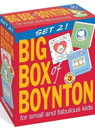 Big Box of Boynton2:Snuggle Puppy! Belly Button Book! Tickle Time! 桑德拉·柏因顿套装#2(3册卡板书)ISBN9780761180951