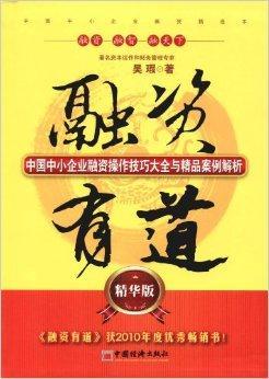 融资有道:中国中小企业融资操作技巧大全与精品案例解析(精华版)