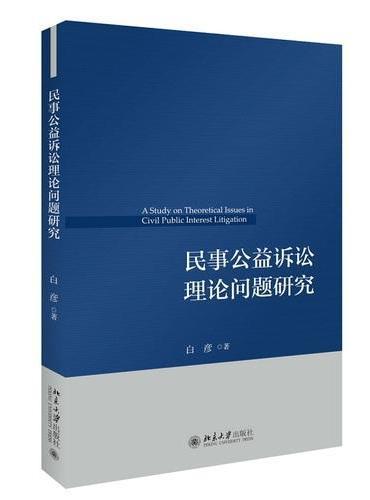 民事公益诉讼理论问题研究