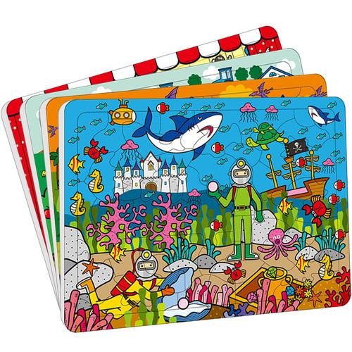 邦臣小红花:动手动脑玩拼图(4-6岁)(套装共4册)