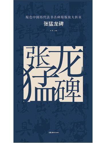 原色中国历代法书名碑原版放大折页:张猛龙碑