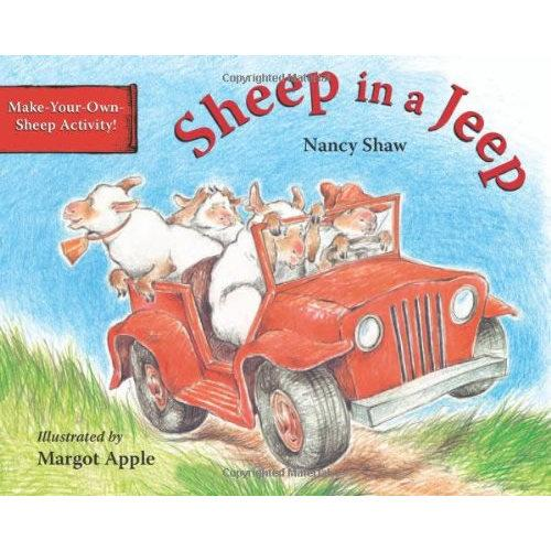 Sheep in a Jeep [Board book]吉普车上的绵羊[卡板书]ISBN9780395867860