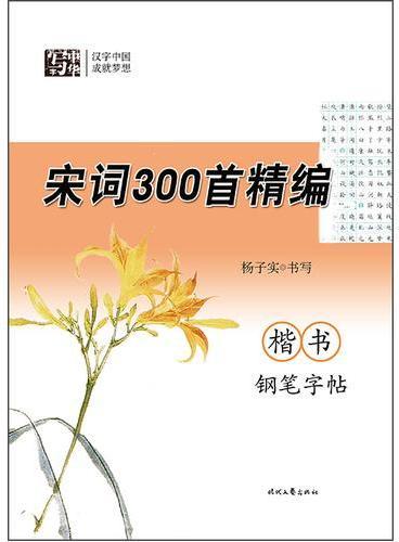 杨子实宋词300首精编楷书钢笔字帖
