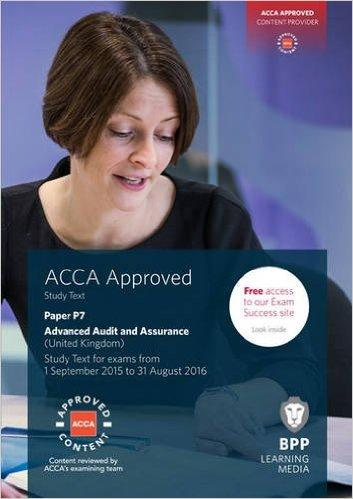 ACCA P7 Advanced Audit and Assurance (UK): Study Text