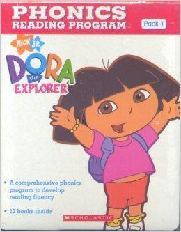 Dora The Explorer Phonics Fun Pack #1 with CD  朵拉探险记自然拼读法套装1(附CD) ISBN9780545732567