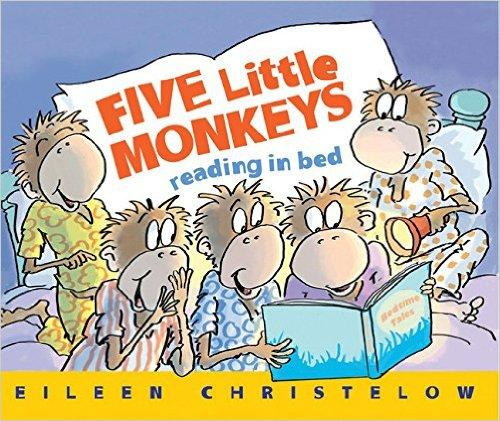 Five Little Monkeys Reading in Bed五只小猴上床读书ISBN9780544488007