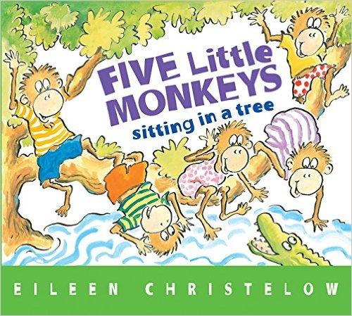 Five Little Monkeys Sitting in a Tree[Boardbook]五只小猴坐树上[卡板书]ISBN9780544083530