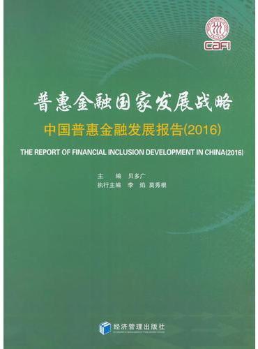 普惠金融国家发展战略——中国普惠金融发展报告(2016)