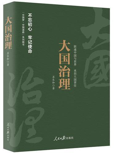 《中国梦·中国道路》丛书—大国治理