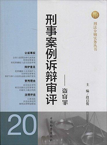 刑法分则实务丛书 刑事案例诉辩审评:盗窃罪(20)