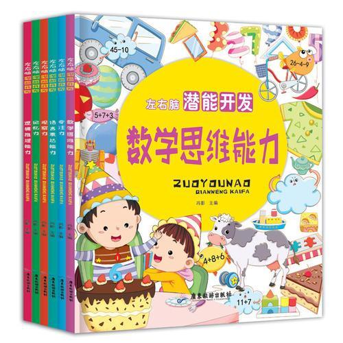左右脑潜能开发 全6册 专注力/数学思维能力/记忆力/观察力/语言表达能力/逻辑推理能力