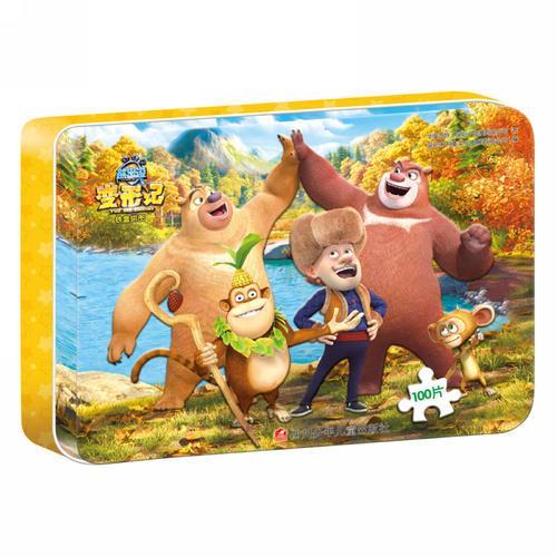铁盒拼图(100片)熊出没变形记