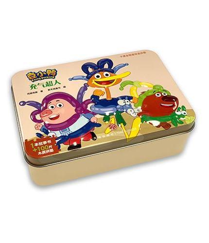 豆小鸭·充气超人 卡通全明星铁盒拼图