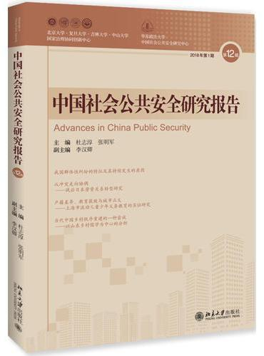 中国社会公共安全研究报告 第12辑