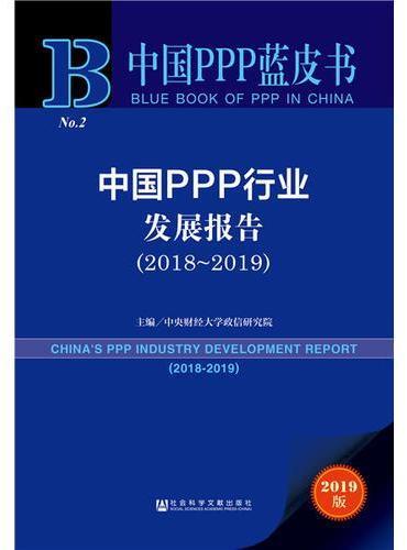 中国PPP蓝皮书:中国PPP行业发展报告(2018~2019)