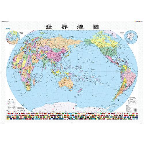 世界地图(人文版 全开 覆膜 穿杆 1060mm*745mm)