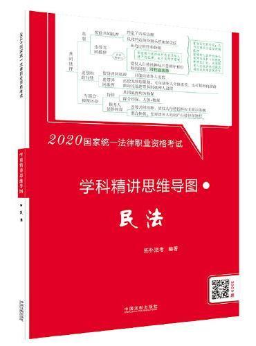 司法考试2020 2020国家统一法律职业资格考试学科精讲思维导图:民法