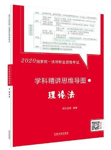 司法考试2020 2020国家统一法律职业资格考试学科精讲思维导图:理论法