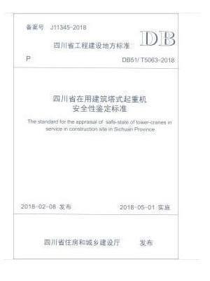 四川省在用建筑塔式起重机安全性鉴定标准
