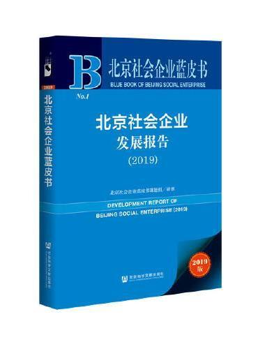 北京社会企业蓝皮书:北京社会企业发展报告(2019)