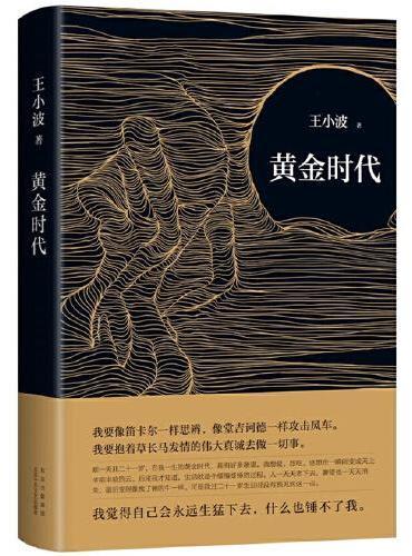 黄金时代(王小波成名代表作,当代文学经典!罗翔、肖战、朱一龙、麦家、李诞挚爱推荐。)