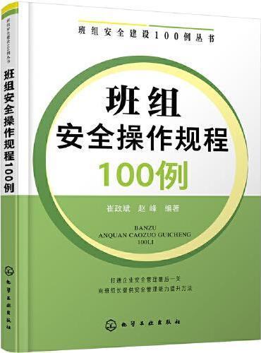班组安全建设100例丛书--班组安全操作规程100例