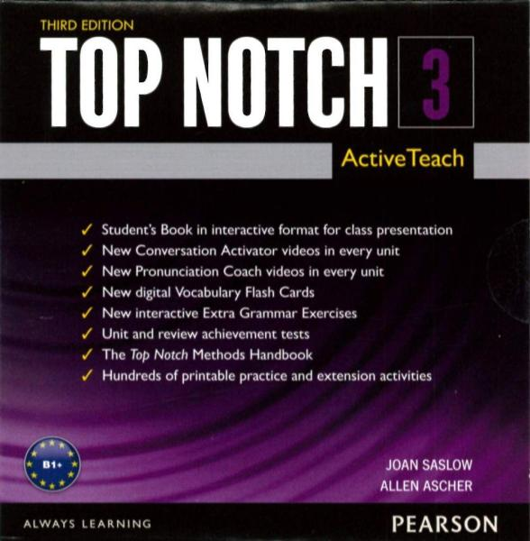 Top Notch 3/e (3) ActiveTeach (DVD-ROM/1片)