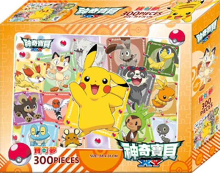 神奇寶貝XY  300片盒裝拼圖(A)