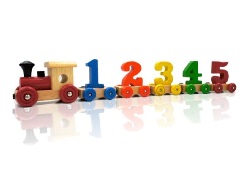 彩色數字火車組合